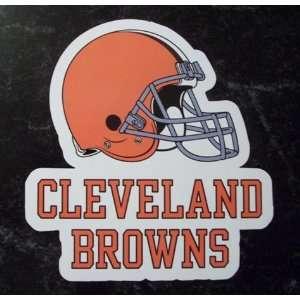 Cleveland Browns Team Logo Name NFL Car Magnet Sports