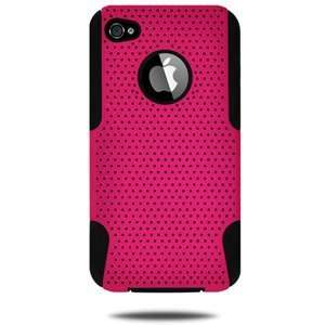 Case Black Hot Pink For Iphone 4 Cdma Iphone 4 by AMZER Electronics