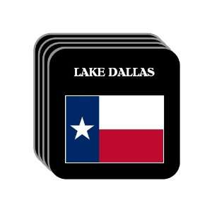 US State Flag   LAKE DALLAS, Texas (TX) Set of 4 Mini