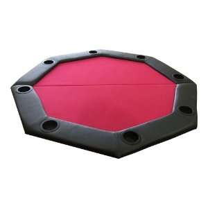 JP Commerce Padded Octagon Folding Poker Table Top in Red