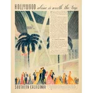 1935 Ad Southern California Los Angeles Tourism Freeman