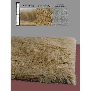 Flokati Faux Fur Rugs 5 x 8 (TAN) Home & Kitchen