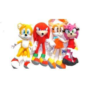 Knuckles, Tails, Cream and Amy Rose   4 Pieces Doll Set (Great Gift