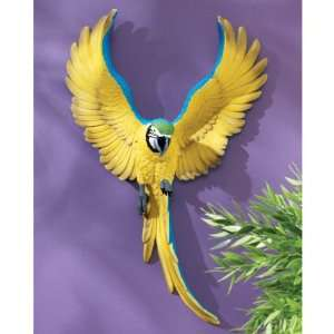 18 Tropical Exotic Parrots Flapping Macaw Bird Wall