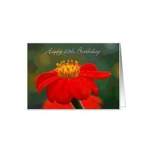 Mexican Sunflower, Happy 60th Birthday Card: Toys & Games