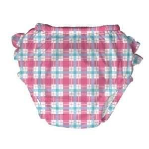 iPlay Swim Diaper Girls Pink Plaid Pattern (XL 25 30 lb
