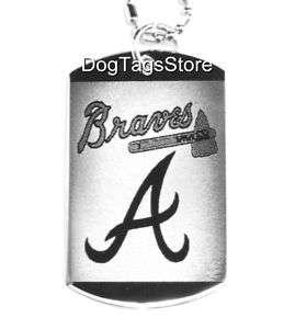 ATLANTA BRAVES   BASEBALL Dog Tag MLB Necklace + Chain