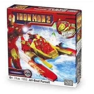Mega Bloks Iron Man 2 Jet Boat Pursuit 1955 NEW