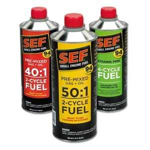 Ethanol Free 2 Cycle Fuel JUST POUR AND GO Two Year Shelf Life