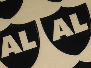 OAKLAND RAIDERS Al Davis AL Football Helmet Decal MINI Size