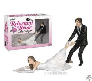 RELUCTANT BRIDE CAKE TOPPER, WEDDING, BRIDE & GROOM!