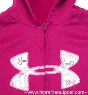 Under Armour Womens Full Zip Armour Fleece Hoodie Sweatshirt Size