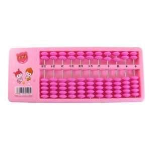 Como Children Educational Tool Magenta Beads Plastic Frame Abacus Pink