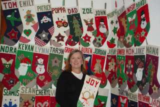 Aunt Joys PERSONALIZED Christmas Stockings. 75+ designs Handcrafted in
