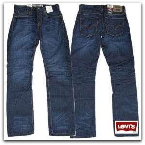 Levis 511 Skinny Straight Skyscraper 0136 Extra Slim Fit Blue Jeans