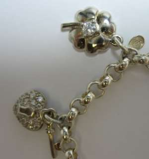 925 Charm Bracelet Engagement Ring Luck Heart Shopping