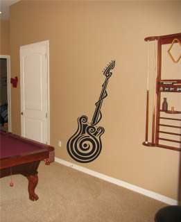 GUITAR Wall Vinyl Sticker MURAL DECAL color 013