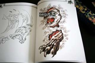 Tattoo Flash Book Art Magzine Sketch Wolf Design Amazin