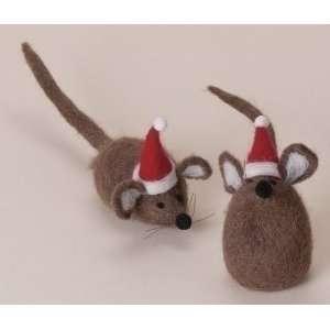 Club Pack of 12 Wonderful Christmas Time Plush Brown Mice