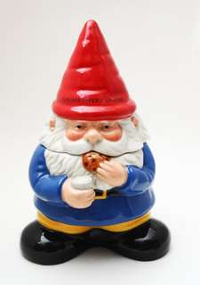 GNOME SWEET GNOME CERAMIC COOKIE JAR WORLD CUTEST KITCHEN ACCESSORY