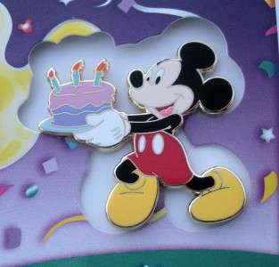Cast Disney WDI Mickey Mouse with cake Happy Birthday Pin & Card LE