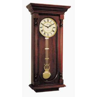 Deep Cherry Finish Quartz Wood Wall Clock