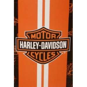 Harley Davidson Blanket   Racing Stripe