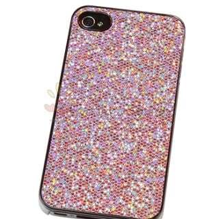 Pink Bling Diamond Glitter Hard Case Cover Skin Accessory For Apple