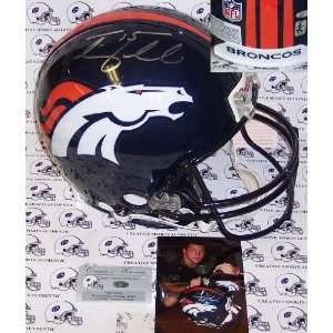 Tim Tebow Hand Signed Denver Broncos Authentic Helmet   Autographed