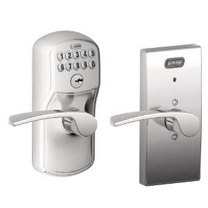 Alarm, Century Collection Keypad Merano Lever Door Lock, Bright Chrome
