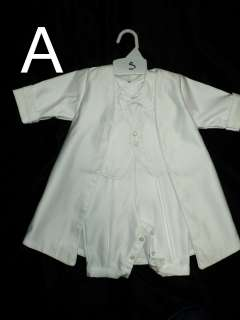 Baby Boy Baptism Christening White Suit/Outfit/Js;/ SIzES: 3M,6M,12M