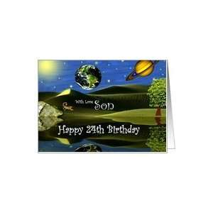 Birthday ~ Son / Age Specific 24th ~ Planet Taro Card: Toys & Games