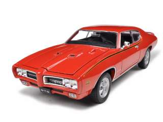 1969 PONTIAC GTO JUDGE ORANGE 124 DIECAST CAR MODEL |