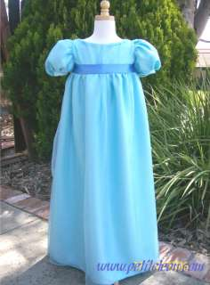 Wendy Darling Blue Dress Child Costume Peter Pan child costume custom