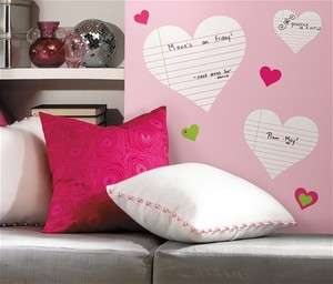 Heart Notepad Dry Erase Wall Decals Stickers Decor RMK1609SCS