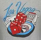 80s Screen Stars Las Vegas Poker Casino Ringer Vintage T Shirt vtg