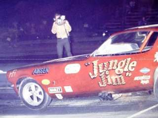 1970s DRAG RACE FUNNY CAR PHOTO Jungle Jim CHEVY NHRA 1
