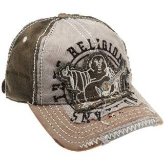 New True Religion Big Buddha Distressed Grey Trucker Hat