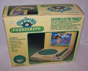 Cabbage Patch Kids Doll Phonograph Record Player 1983