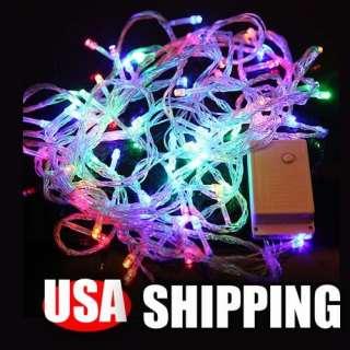 Colors 100 LED String Fairy Lights christmas wedding