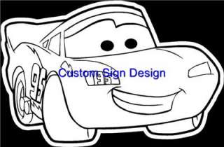 Lightning McQueen Race Car Window Decal Sticker