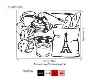 BREAD & COFFEE ★ Kitchen Decor Vinyl Art Decal Sticker