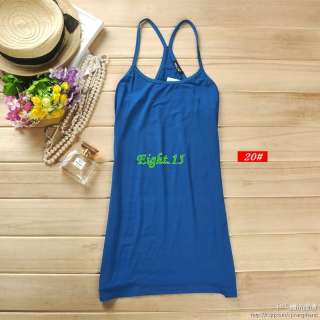 Stretchy Solid Basic Cami Shirt Vest Top Racerback Tank RT001