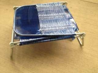 Folding Webbed Chaise Lounge