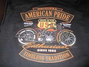 Harley American Original SINCE 1903 Made Milwaukee SWEAT SHIRT BLACK