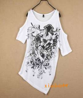 Korea Women Off Shoulder Tops T shirt Mini Dresses