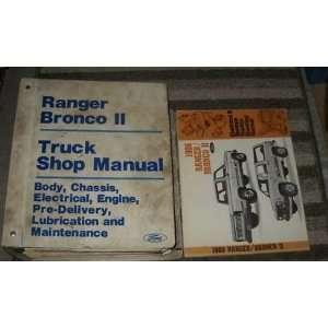 1986 Ford Ranger Bronco II Truck Service Manual Set OEM