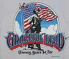 VINTAGE GRATEFUL DEAD 20 YEARS ORIGINAL CONCERT TOUR T SHIRT TEE 80s