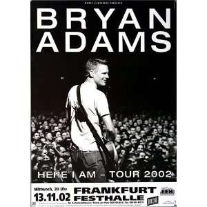 Bryan Adams   Here I Am 2002   CONCERT   POSTER from