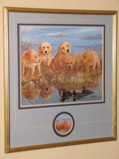 John Akers Limited Edition Signed Labrador Puppy Print